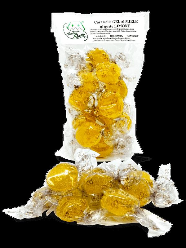 caramelle gel al miele al gusto limone